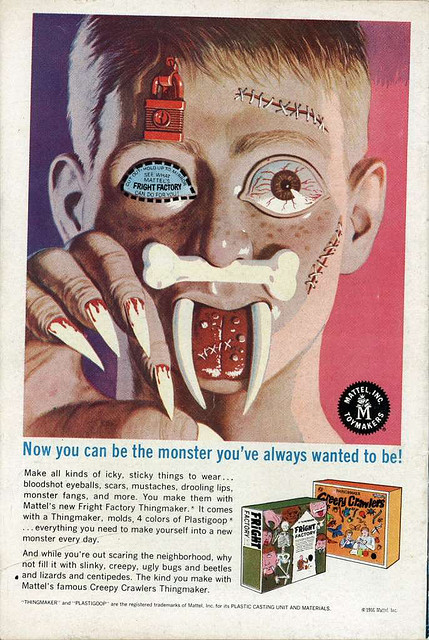 Ad for Thingmaker kits Fright Factory, & Creepy Crawlers (1968)