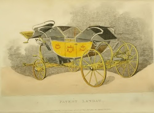 A 'Patent' Landau from Repository of Arts February 1809