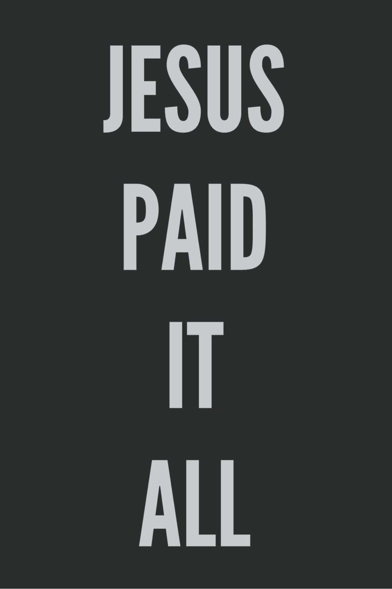 sixteenthirtythree:  Jesus paid it all, All to Him I owe; Sin had left this crimson stain,  He washed it white as snow.