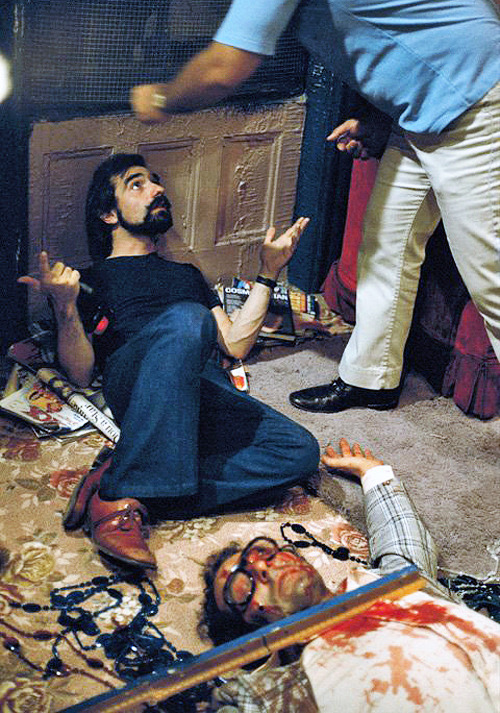 Martin Scorsese on the set of Taxi Driver (1976).