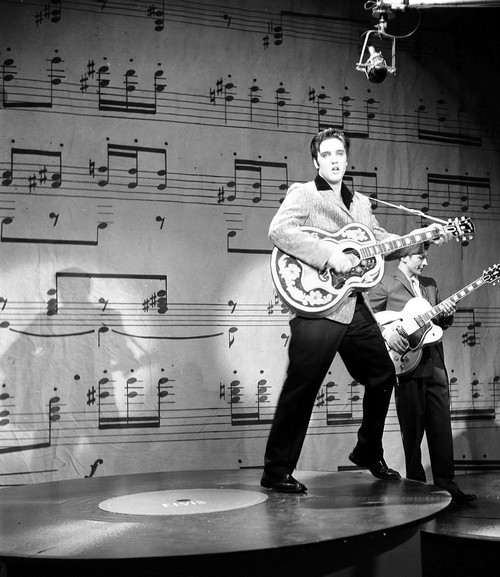 thewonderofelvis:  Rehearsals for the Ed Sullivan Show, January 6, 1957.