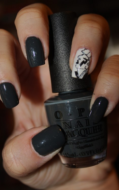 Lady Gaga nail art using OPI's 'Nein! Nein! Nein! Ok Fine!'Enjoy! :)