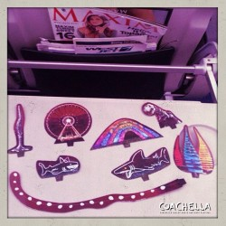 Playing with my #coachella toys on the plane