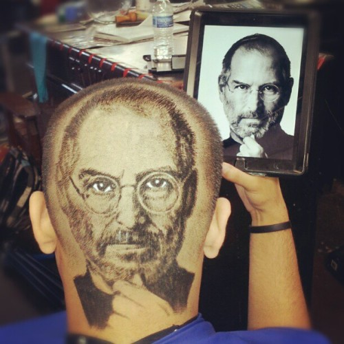 #steveJobs #apple by #robtheoriginal #hairportrait