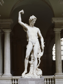 forthememoryofepicurus:  Apollo Victorious over the Python (ca. 1591) by Pierre Franqueville