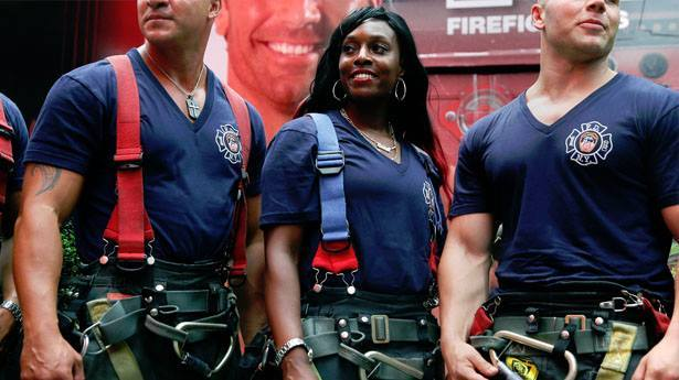 "littleredqueen:  dynastylnoire:  brownglucose:  negritaaa:  niggaimdeadass:  lifeworkfun:  Meet The First Woman To Make It Into The FDNY's Calendar Of Heroes. Danae Mines became one of the few female firefighters in the New York City Fire Department (FDNY) 11 years ago, despite her family telling her that only men joined the department. This year, she broke down another barrier by becoming the first woman to be featured in the FDNY's 2015 Calendar of Heroes. She had been told that the honor was reserved for men, but when she saw the open call for firefighters, she went, despite feeling a little intimidated standing in line with more than 100 men.  There are currently only 41 women in the department, but perhaps the attention Danae is getting will increase that number. ""I wanted my picture in the calendar so that young girls and young women can see me and know that they can do this job,"" she told the New York Daily News.  YYYYYYYAAAAASSSSSSSSSS!!!  I am actually crying right now beCAUSE IT'S THE FUCKING YEAR OF THE BLACK GIRL AND I'VE BEEN WAITING SO LONG FOR THIS  This is wonderful!!!  I will never get tired of reblogging this. Iconic  she's so pretty too holy shit, got dem looks AND muscles!"