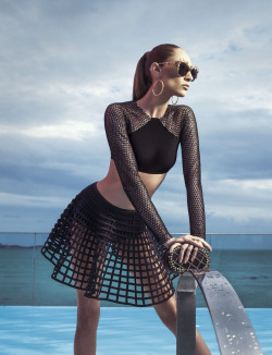 "stormtrooperfashion:  Talytha Pugliesi in ""Brazil Dazzle"" by Eduardo Rezende for How To Spend It, May 2013 See more from this set here."