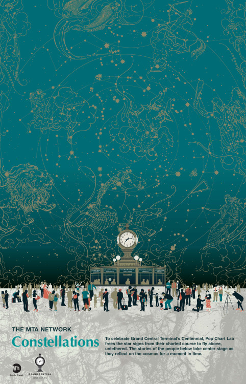 nevver:  Grand Central Constellations, Arts for Transit  Yay!