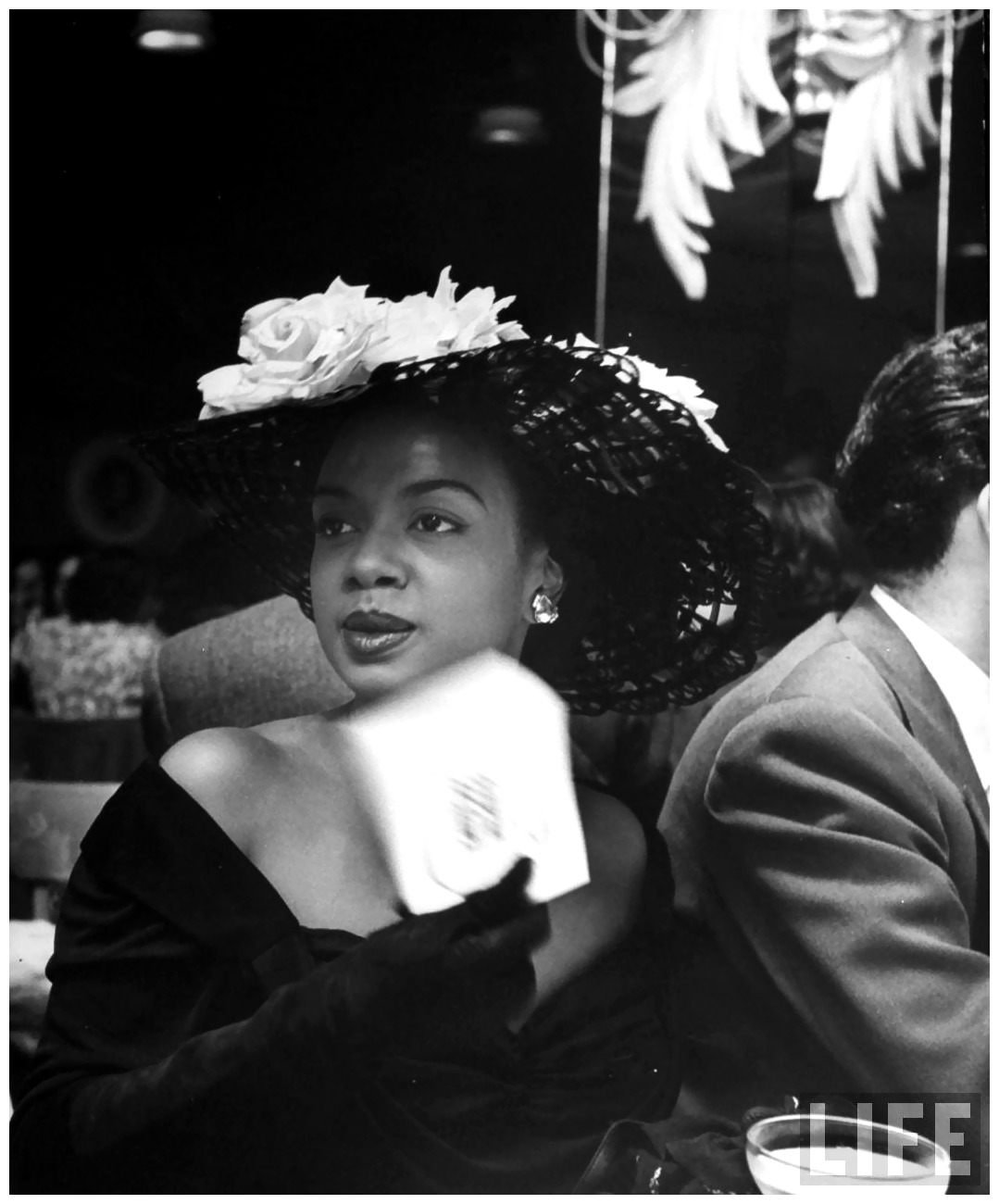 fewthistle:  Jazz Pianist, Hazel Scott. Opening Night at Bop City, San Francisco. 1949. Photographer: Martha Holmes