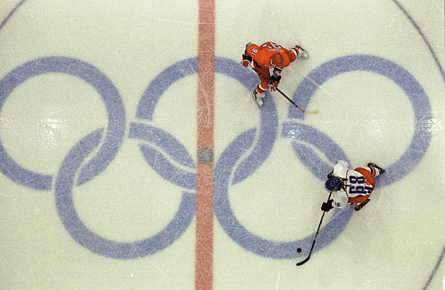 Jaromir Jagr skates against Russia in the 1998 Winter Olympics. Jagr and the Czech squad took the gold medal in Nagano. (David E. Klutho/SI) GALLERY: Rare Photos of Jaromir Jagr