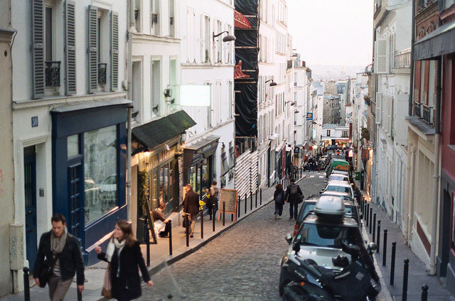 | ♕ |  Montmartre at dusk, Paris  | by © Jason R Black | via ysvoice