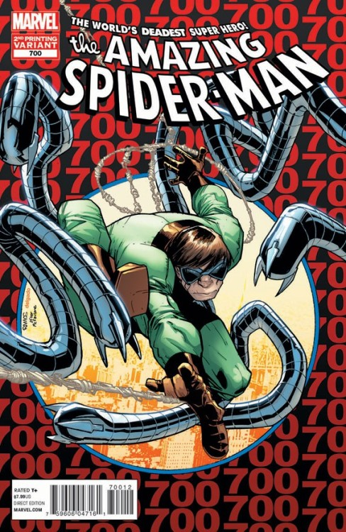 Amazing Spider-Man #700 Reprint Teaches Us How to Be Better People Marvel has revealed the variant cover for the second printing of Amazing Spider-Man #700, and taught us all a lesson in the process. Read More