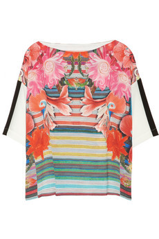 (via Clover Canyon | Printed crepe de chine top | NET-A-PORTER.COM)