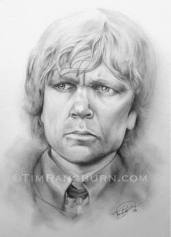 gameofthrones:  Peter Dinklage as Tyrion LannisterPencil on Bristol BoardArtist: Tim PangburnFinished in 2 days I really enjoyed drawing this portrait. I have nothing but respect for Peter Dinklage. He's an amazing actor and person, and I cannot imagine anyone else playing the role of Tyrion. Looking forward to Season 3 of Game of Thrones!