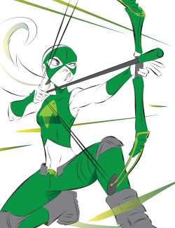 comic digital art Superhero dc comics archery young justice artemis archer yj