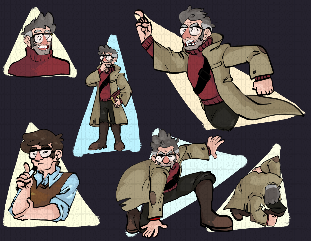 do not reupload / edit // do not tag as kin/idits a pretty good show #gravity falls#stanford pines#ford pines#gf