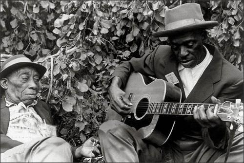 "doomandgloomfromthetomb:  Mississippi John Hurt and Skip James, WTBS-FM, Cambridge, MA, October 1964 Very casual but very amazing broadcast featuring these two American heroes, shortly after they were ""rediscovered."" Must've been a fairly bizarre experience for them, after having been ignored for 30+ years, to suddenly be on the radio, interviewed by fawning fans. James, in particular, seems to be taking it all in a stride, though — as if he expected it to happen all along. Al Wilson, later of Canned Heat, pops up too. A very worthwhile listen via Midnight Cafe."