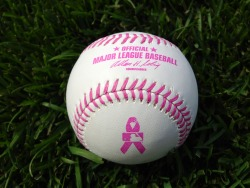 The Mets and all Major League Baseball teams will use these pink baseballs  this Sunday for Mother's Day for breast cancer awareness