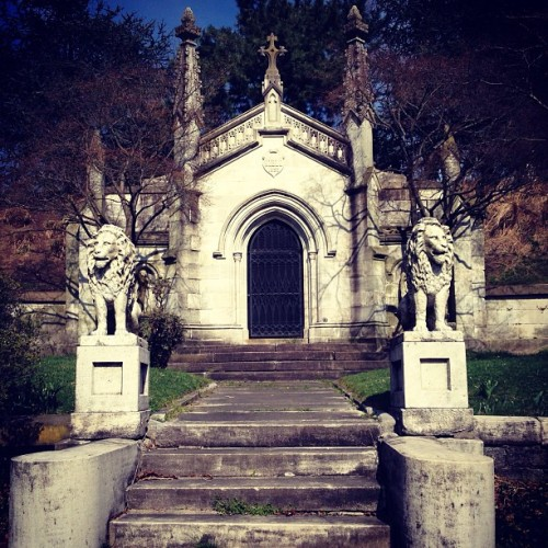 The mausoleum of my dreams; still standing from 1852. (at Greenwood Cemetery)