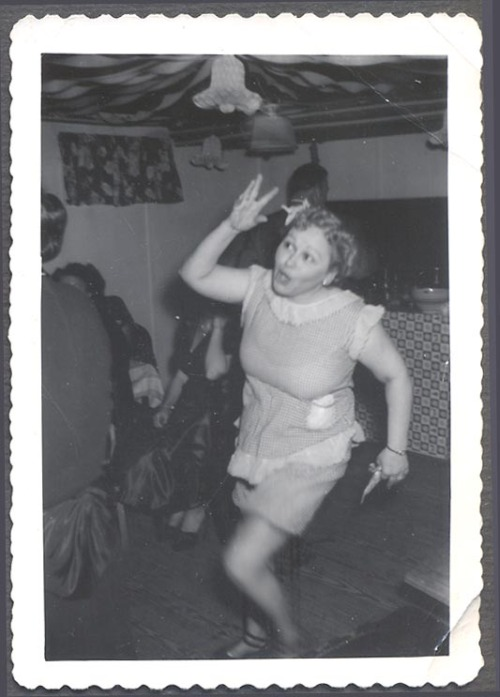 (via Vintage Photo Pretty Girl in Dancing Motion at Party Unusual 829068 | eBay)