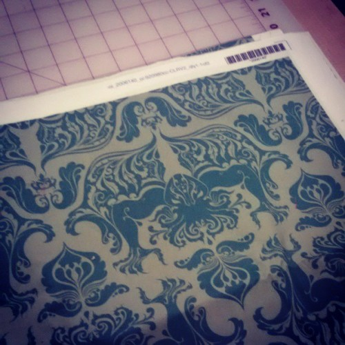 Printed up some Cthulhu fabric I designed for a gallery show later this week. You can buy it at spoonflower.com/profiles/rosalarian