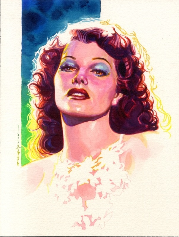 Rita Hayworth by Brian Stelfreeze.