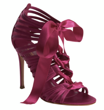 Gianvito Rossi Lace-Up Ribbon Sandal