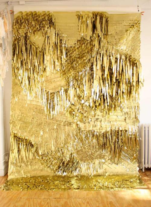 luxuryjones:  Confettisystem - Gold Wall for Creatures of the Wind (2010)