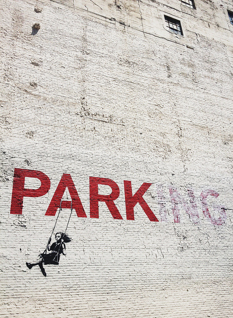 missatombomb:  PARKING - Bansky by 0823n on Flickr.