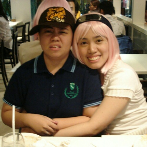 i miss my pink hair— and having my sis as a captive audience! ㅋㅋㅋ #jumpingthebandwagon #throwbackthursday
