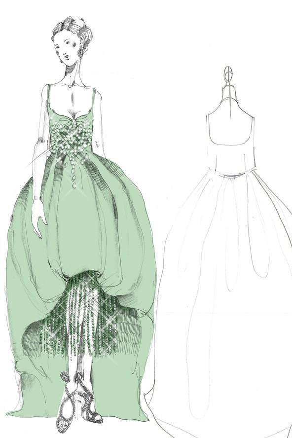 Adore Miuccia Prada's gorgeous The Great Gatsby costume sketches.