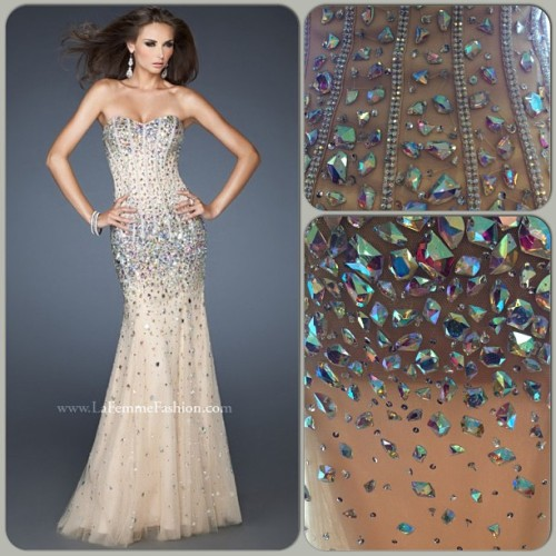 "Loving this fabulous pageant look now available from @lafemmefashion it's ""to die for"" #pageant #dress #formal #gorgeous #beautiful #stunning #bling #loveit #lafemmedress #fashion"