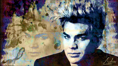 Abstract watercolor digital art of Adam Lambert. Decided to try something different this time, so I spent the last couple days creating this wallpaper. Hope y'all like it! :) Click pic, then once again for full size of 1600x900. Photo credit to http://adam-pictures.com/ Thank You! Love you Adam, always! ~ Karen :)