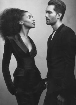 stormtrooperfashion:  Tobias Sørensen and Jasmine Tookes by Craig McDean for Vogue US, February 2013