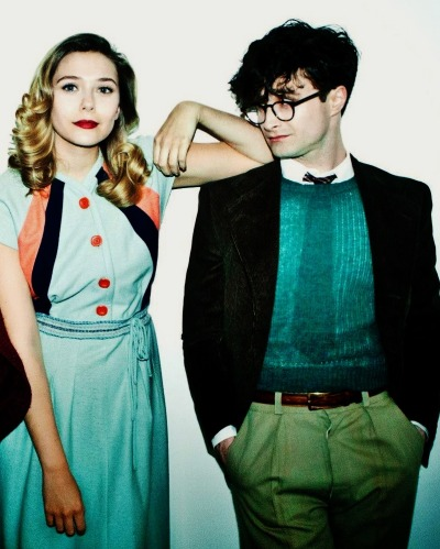 Elizabeth Olsen and Daniel Radcliffe - Kill Your Darlings promotional shoot
