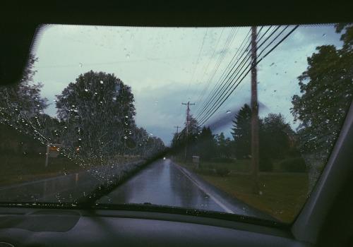 car driving rain rainyday windshield