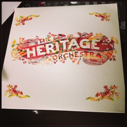 The original @robiwalters designed cover for the heritage orchestra album. Unfortunately the band wanted different artwork. I think this is beautiful! by brownswood http://bit.ly/10Lvc7a