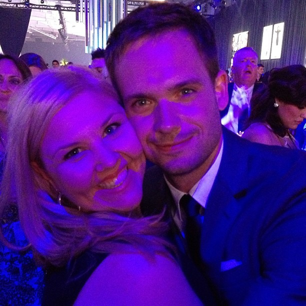 @halfadams & @amandacary The King & Queen of Prom. #upfronts #suits #usa #nyc #patrickjadams  (at Manhattan Bridge)