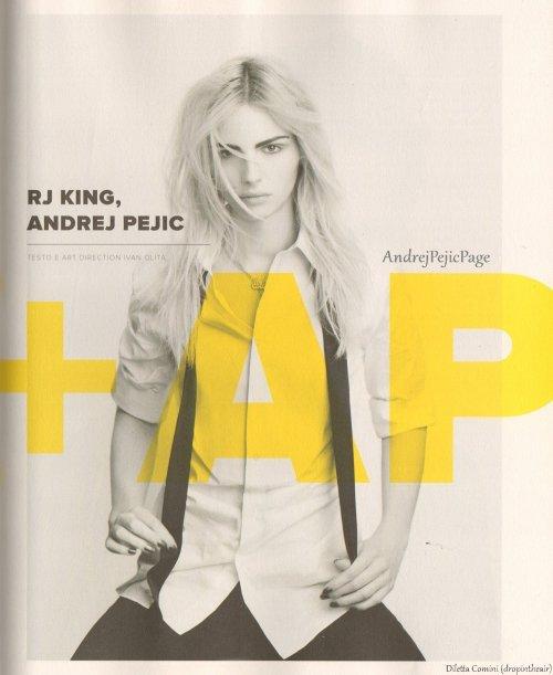 andrejpejicpage RJ King   Andrej Pejic  Photos and interview in L    Rj King And Andrej Pejic