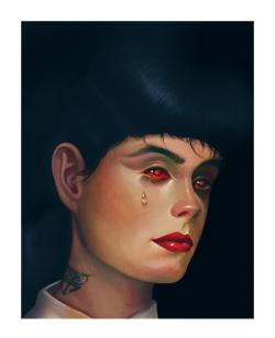 xombiedirge:  Rachel by Steven Daily / Store Limited edition giclee print. Released 27th Feb 2013, 12pm PST HERE.
