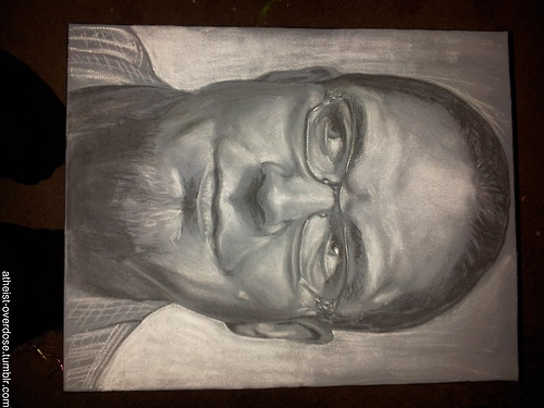 atheist-overdose:  A 45 minute sketch of Penn Jillette I made last night… just found out he's going to sign it for me!follow for the best atheist posts on tumblr