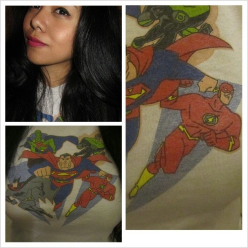 Favorite T-shirt circa 2003, colors are faded but still detailed. #JL #theyforgotwonderwoman