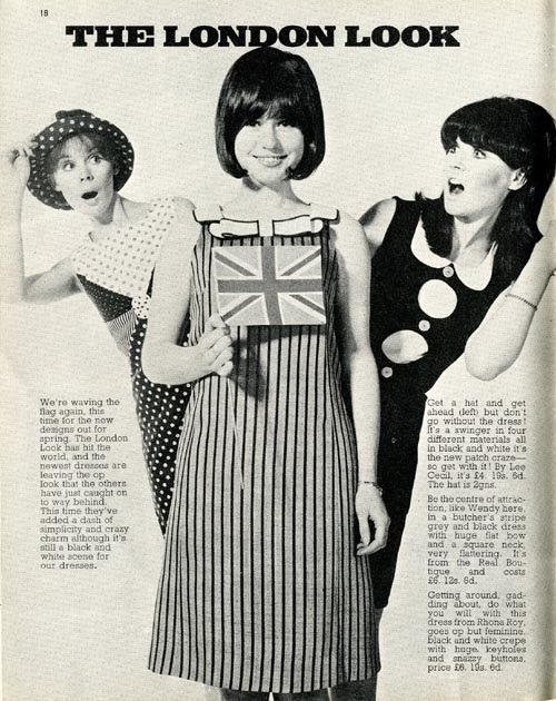 ladiesofthe60s:  Swinging London fashions in Rave magazine, 1966.
