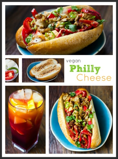 Vegan Philly Cheese Sandwich.