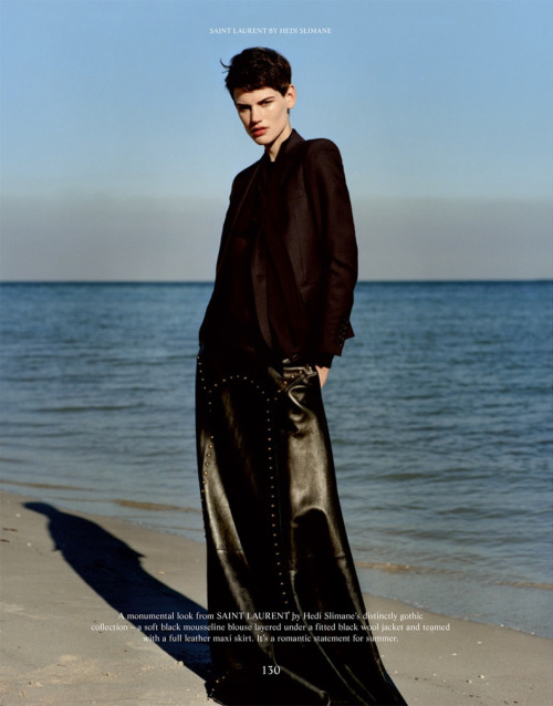blankmotion:  Nieuw Magazine: The Gentlewoman Spring/Summer 2013Model: Saskia de BrauwPhotography: Alasdair McLellanStyling: Jonathan Kaye