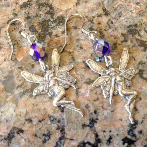 czech firepolished crystals blue woodlandfaeriecharms charms silverearwires woodland faerie womensearrings earrings women woodlandfaerie lillybeadsdesigns dangleearrings etsy silver jewelry beads etsyshop womensjewelry lillybeads