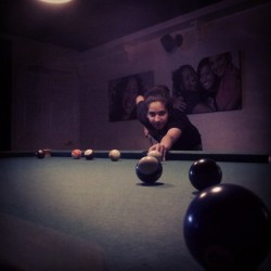 Billiards Night with the permanent roommate. #M+m #billiards #lostboys #bumlife #nomads