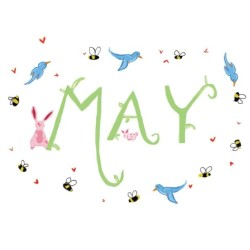 Happy May!  #ProCamera#may#month#spring#illustration#photoshop#birds#bees#bunny#art#digital#bluebird#rabbit#insect#flowers#love