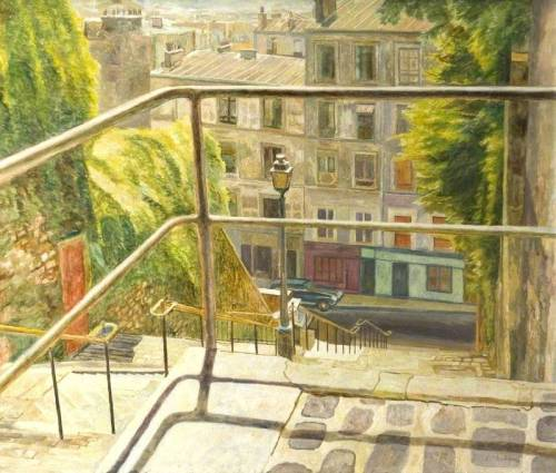 Arthur Henry Andrews' Montmartre, Paris, France (via BBC - Your Paintings)