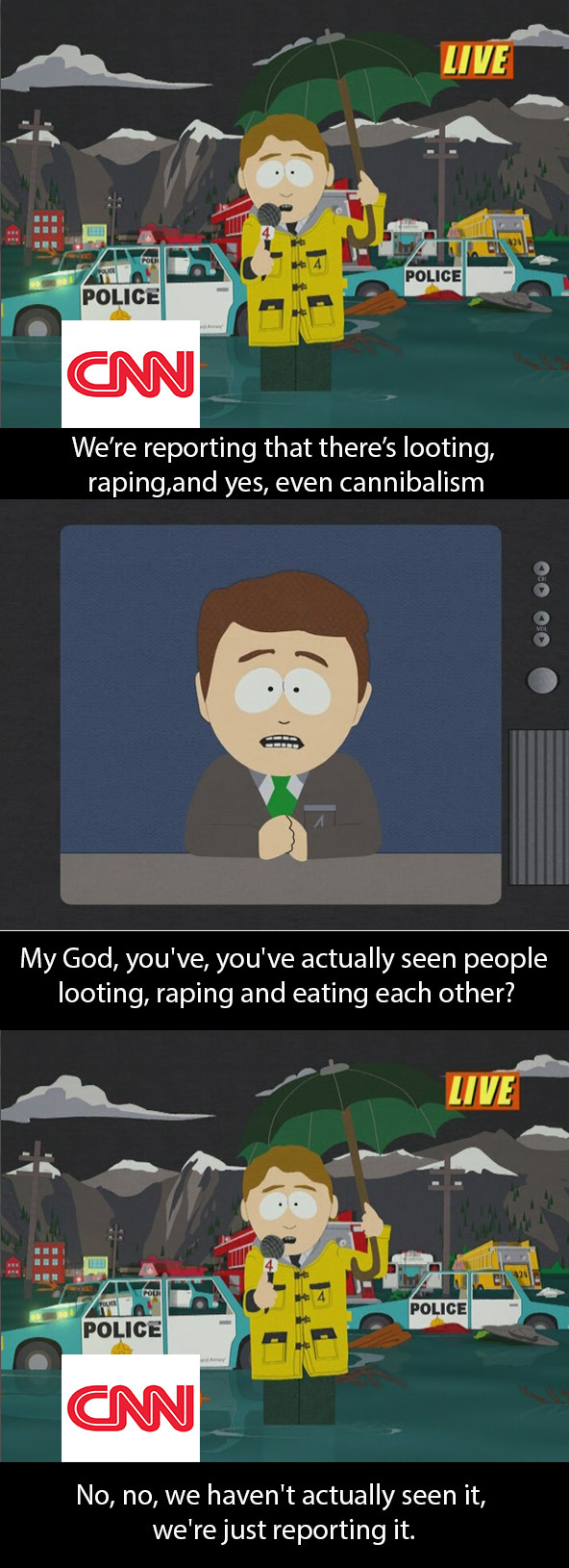 thesochillnetwork:  Truth about news coverage by south park.